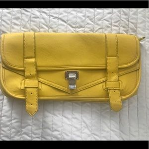 Yellow oversize clutch